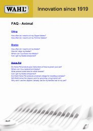 FAQ - Animal - Wahl