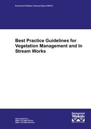 Best Practice Guidelines for Vegetation Management and In Stream ...