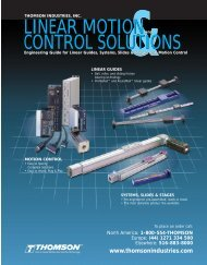 linear motion control solutions linear motion control ... - Thomson