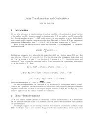 Linear Transformations and Combinations