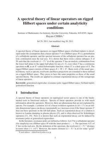 A spectral theory of linear operators on rigged Hilbert spaces under ...