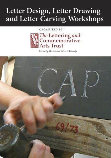 Letter Drawing & Carving 2013 Courses - The Lettering and ...