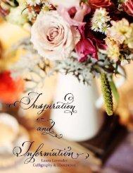 INSPIRATION & INFORMATION BOOKLET - Laura Lavender