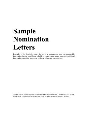 Sample nomination letter 350 sample nomination letters girl scout council of the nations capital altavistaventures Choice Image