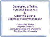 Developing a Telling Personal Statement & Obtaining Strong Letters ...