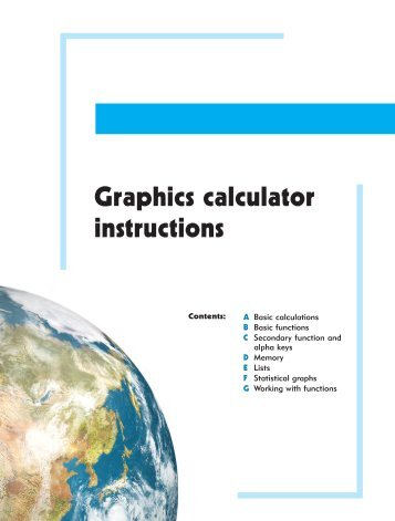 Graphics calculator instructions - Haese Mathematics