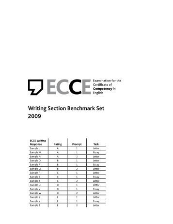 ecce writing essay Michigan test - ecce  the examination for the certificate of competency in english (ecce)  (speaking, listening, reading, writing.
