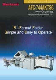 Computerized Cross Folder AFC-744AKTSC Mobile Knife Fold Unit ...