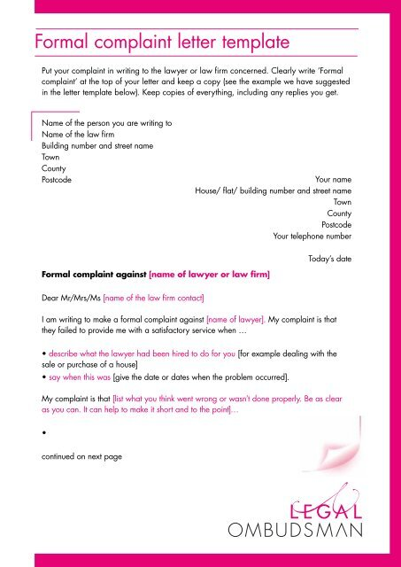 Formal Legal Letter Format from img.yumpu.com
