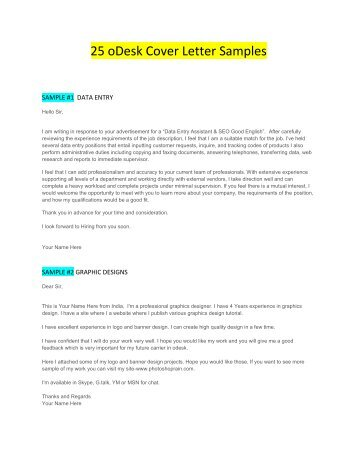 odesk cover letter for android developer