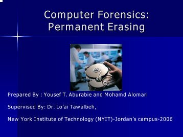 Permanent Erasing - Jordan University of Science and Technology