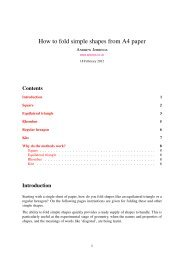 How to fold simple shapes from A4 paper - Arbelos
