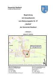 Entwurf: Begründung zum Bebauungsplan Nr. 47 - Stadland