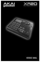 Akai XR20 Reference Manual - V1.3 - zZounds.com