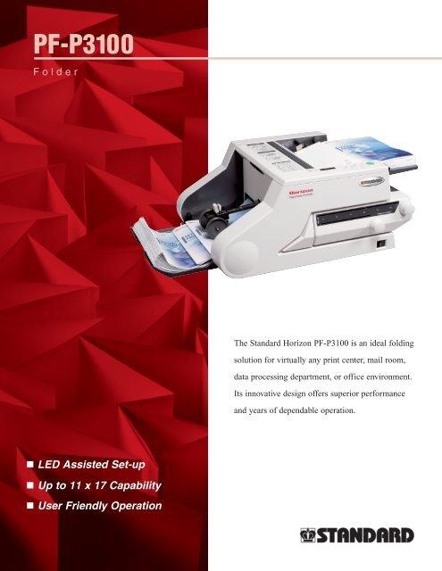 PF-P3100 Spec Sheet - Integrated Office Solutions