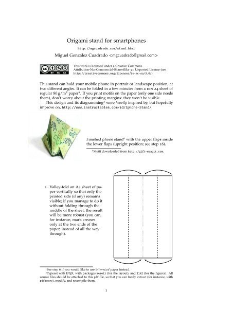 How to make an origami boat stand: page 9 | 640x453