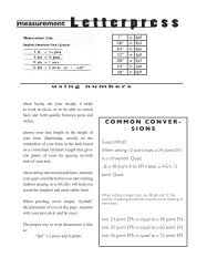 Letterpress Intro (pdf) - Academic Program Pages at Evergreen