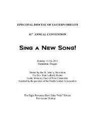 SING A NEW SONG! - Episcopal Diocese of Eastern Oregon