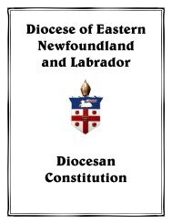 table of contents constitution - Anglican Diocese of Eastern ...