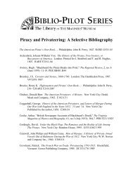 Piracy and Privateering: A Selective Bibliography - Mariners' Museum
