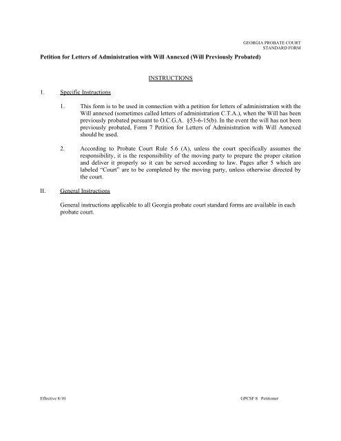 The Probate Process in Georgia