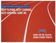 NAIA Guide for the College Bound Student-Athlete - NAIA Eligibility ...