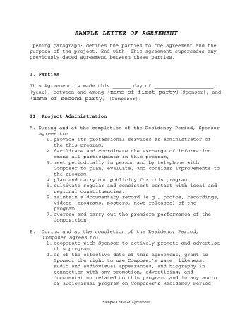 Sample Sponsorship Letter And Agreement Three Forks Fccla