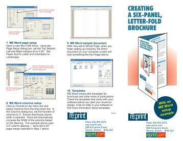 creating a travel brochure performance standard 3c f