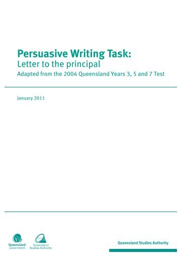 Persuasive Writing Task - School - Letter to the principal.book