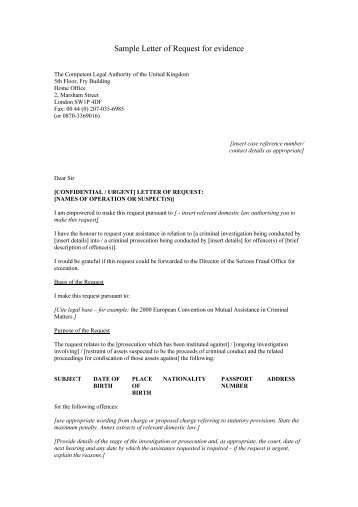 sample letter requesting insurance coverage and