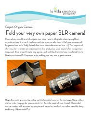 Fold your very own paper SLR camera! - Showit