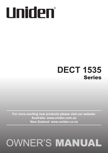 uniden dect 1735 1 manual