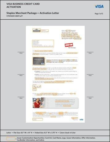 Activity 33 visa business credit card staples activation letter package colourmoves