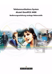 Telelommunikations-System Alcatel OmniPCX 4400