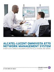 alcatel-lucent omnivista 8770 network management system