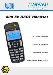 300 Ex DECT Handset - Fernmeldetechnik Stadler GmbH