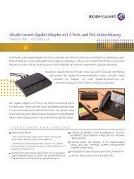 Alcatel-Lucent Gigabit-Adapter mit 3 Ports und PoE-Unterstützung