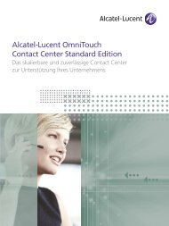 Alcatel-Lucent OmniTouch Contact Center Standard Edition