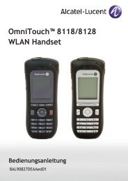 OmniTouch™ 8118/8128 WLAN Handset