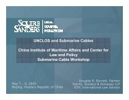 UNCLOS and Submarine Cables - Centre for International Law