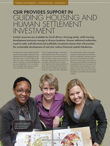 guiding housing and human settlement investment - CSIR