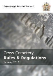 Cross Cemetery Rules & Regulations - Fermanagh District Council