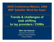 Trends & challenges of task shifting to lay providers / CHWs