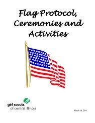 Flag Protocol, Ceremonies and Activities Activities