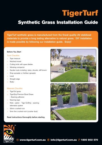 Synthetic Grass Installation Guide - George Low