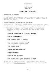 FAMINE POETRY - Irish History DVD