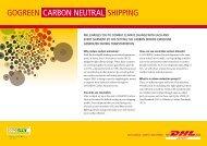 gogreen carbon neutral shipping