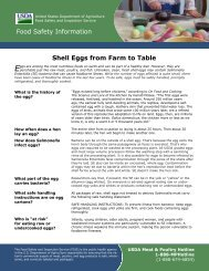Shell Eggs from Farm to Table - Food Safety and Inspection Service ...