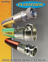 INDUSTRIAL HOSE CATALOG - industrial hose products - Flextral