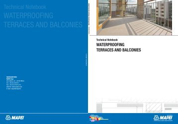 WATERPROOFING TERRACES AND BALCONIES - Mapei